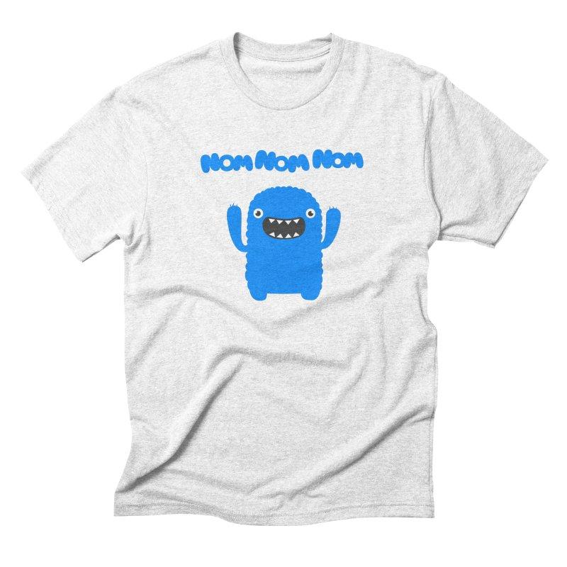 Om nom nom nom Men's Triblend T-shirt by Badbugs's Artist Shop