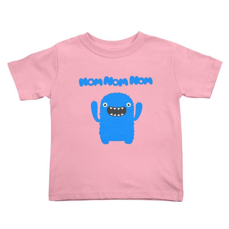 Om nom nom nom Kids Toddler T-Shirt by Badbugs's Artist Shop
