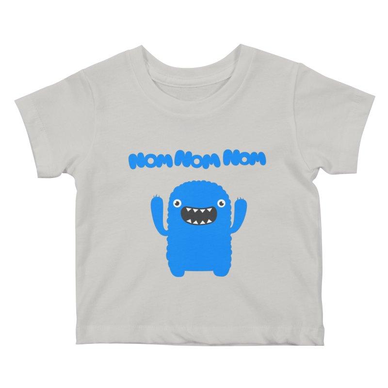 Om nom nom nom Kids Baby T-Shirt by Badbugs's Artist Shop
