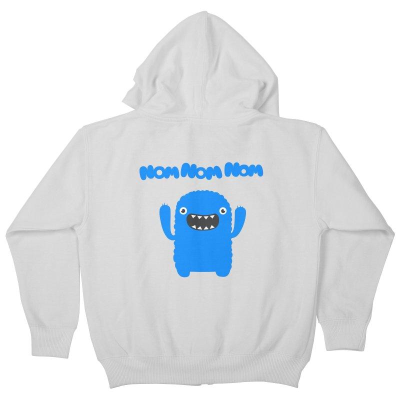 Om nom nom nom Kids Zip-Up Hoody by Badbugs's Artist Shop