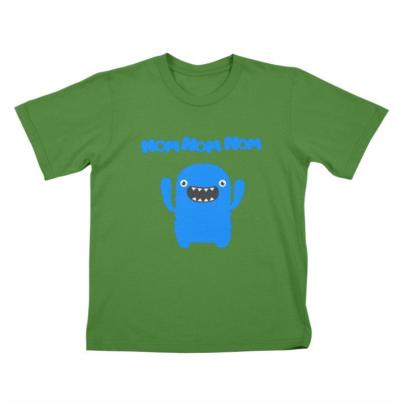 Om nom nom nom Kids T-shirt by Badbugs's Artist Shop