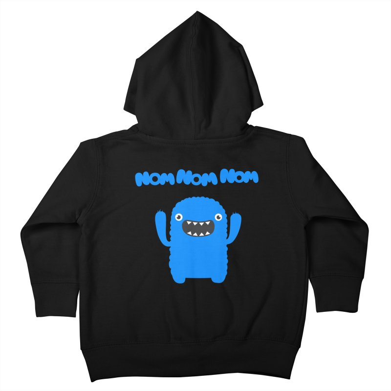 Om nom nom nom Kids Toddler Zip-Up Hoody by Badbugs's Artist Shop