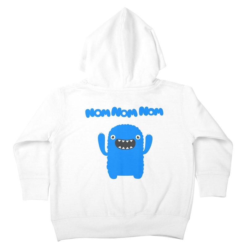 Om nom nom nom Kids Toddler Zip-Up Hoody by Badbugs's Artist Shop