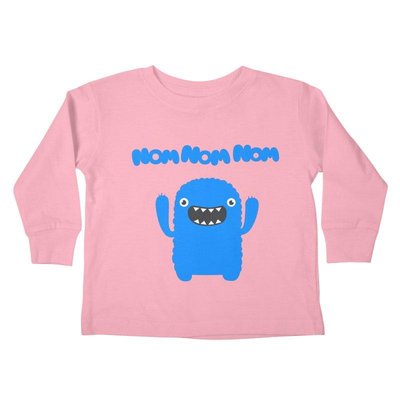 Om nom nom nom Kids Toddler Longsleeve T-Shirt by Badbugs's Artist Shop