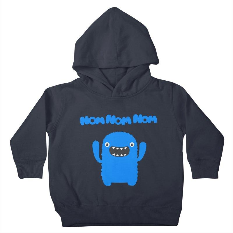 Om nom nom nom Kids Toddler Pullover Hoody by Badbugs's Artist Shop