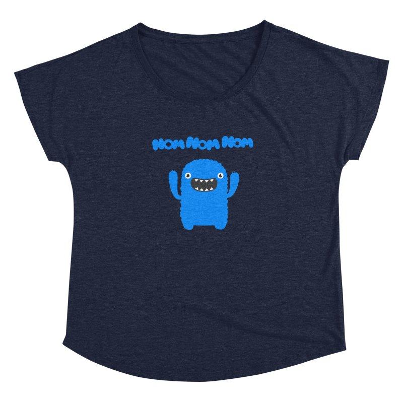 Om nom nom nom Women's Dolman by Badbugs's Artist Shop