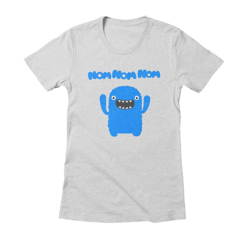 Om nom nom nom Women's Fitted T-Shirt by Badbugs's Artist Shop