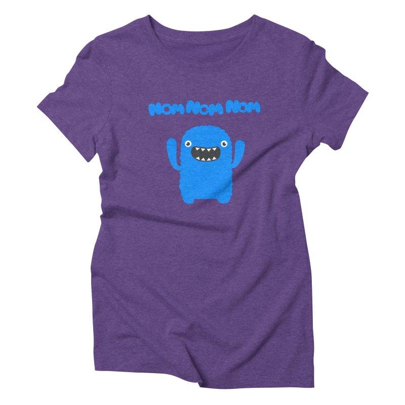 Om nom nom nom Women's  by Badbugs's Artist Shop