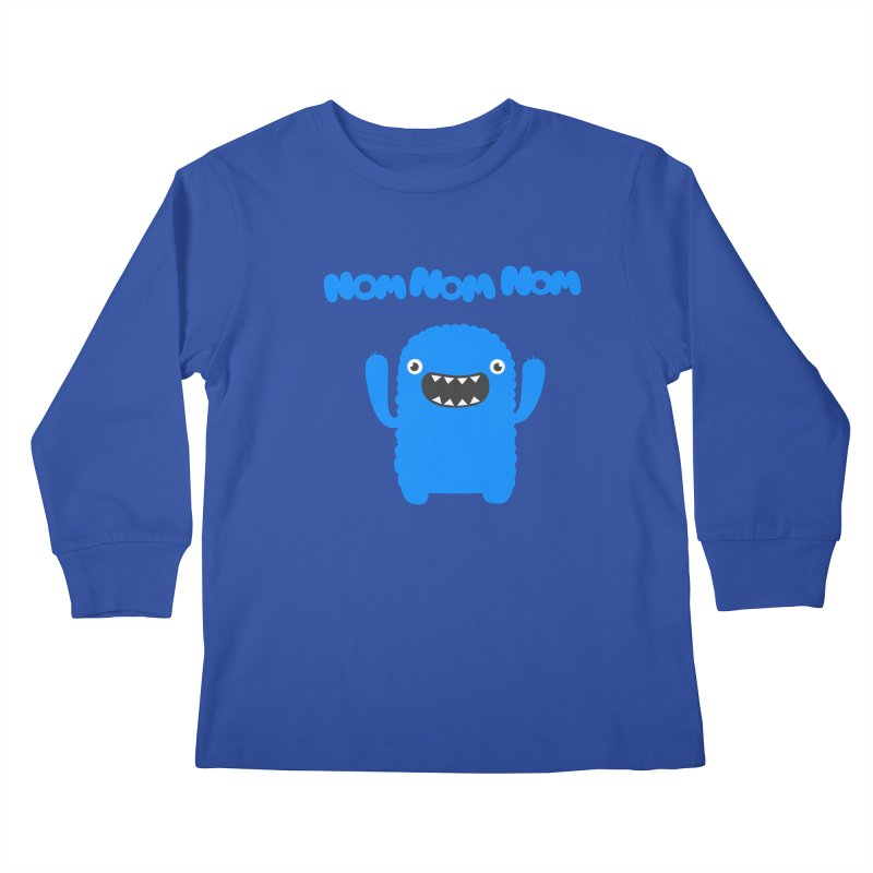 Om nom nom nom Kids Longsleeve T-Shirt by Badbugs's Artist Shop