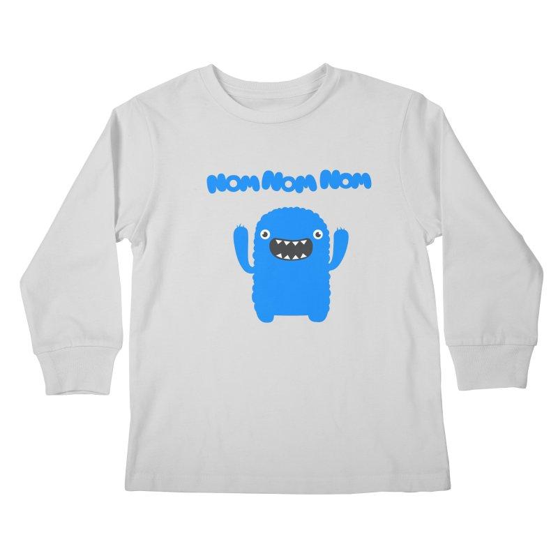 Om nom nom nom Kids Longsleeve T-Shirt by Badbugs's Artist Shop