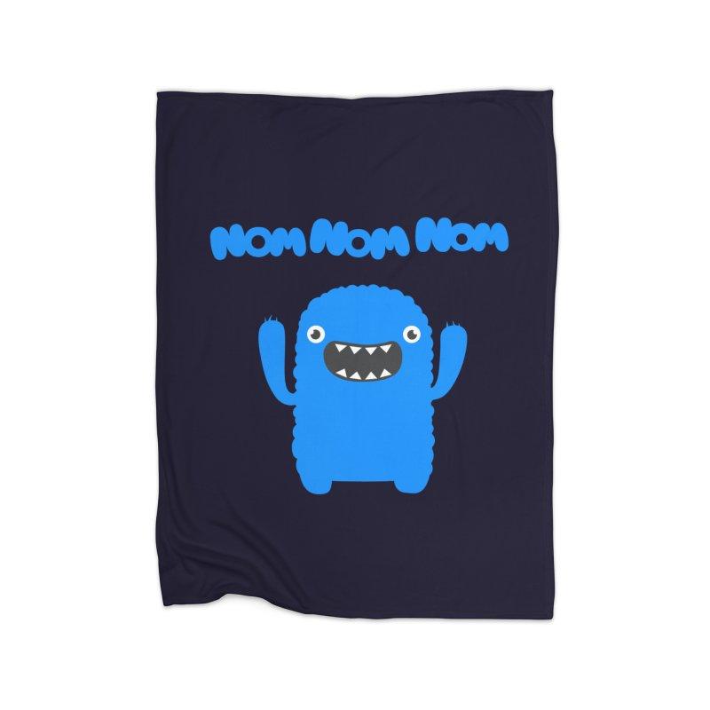 Om nom nom nom Home Blanket by Badbugs's Artist Shop