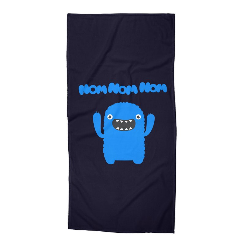 Om nom nom nom Accessories Beach Towel by Badbugs's Artist Shop