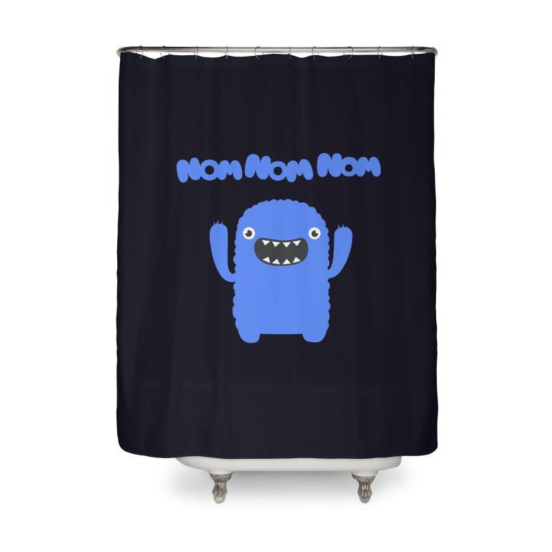 Om nom nom nom Home Shower Curtain by Badbugs's Artist Shop