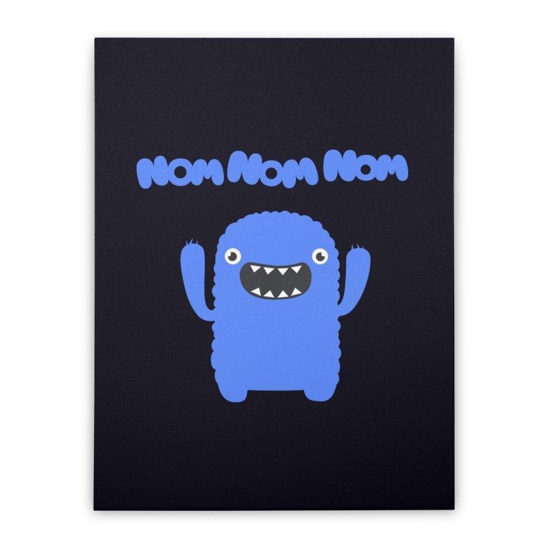 Om nom nom nom Home Stretched Canvas by Badbugs's Artist Shop