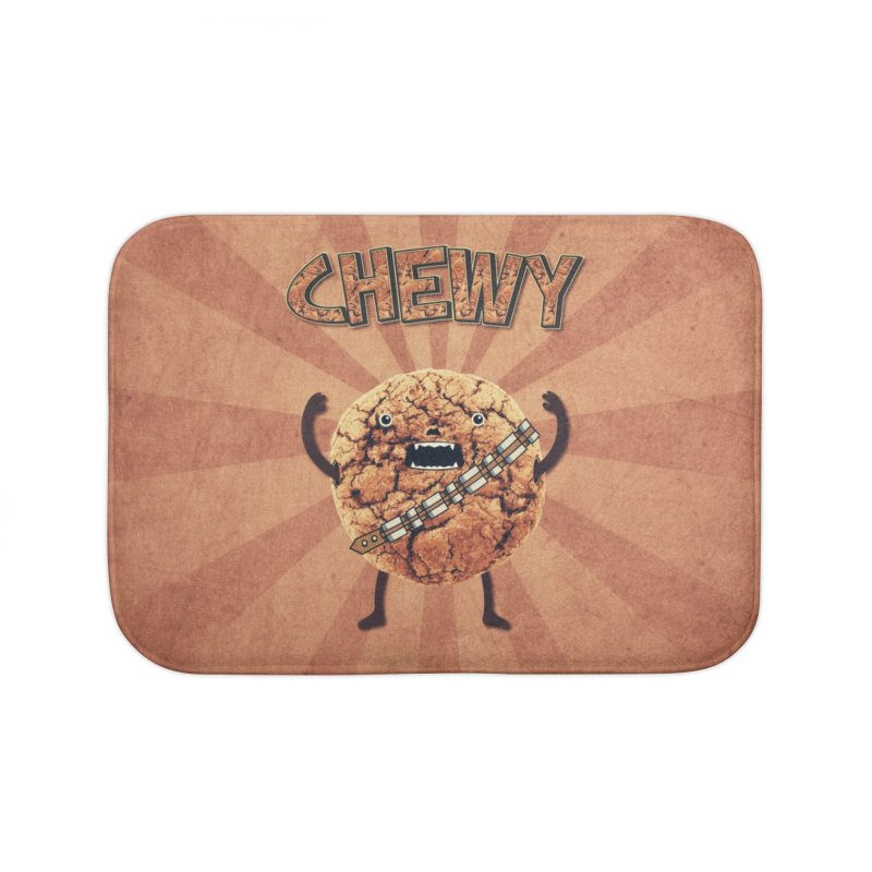 Chewy Chocolate Cookie Wookiee Home Bath Mat by Badbugs's Artist Shop