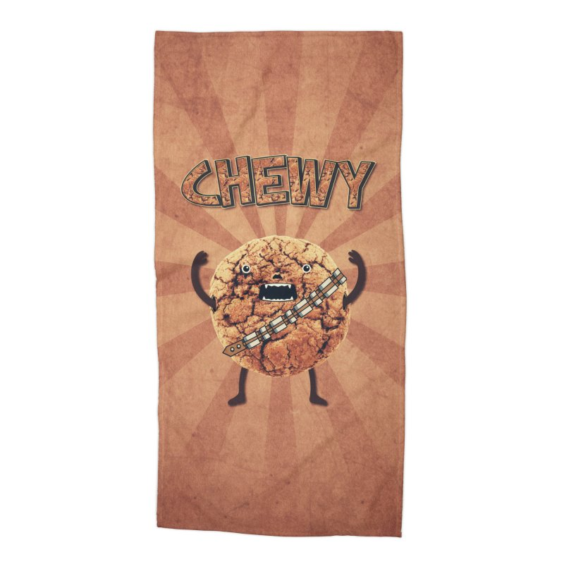 Chewy Chocolate Cookie Wookiee Accessories Beach Towel by Badbugs's Artist Shop