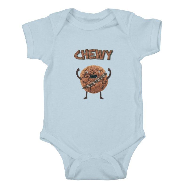 Chewy Chocolate Cookie Wookiee Kids Baby Bodysuit by Badbugs's Artist Shop