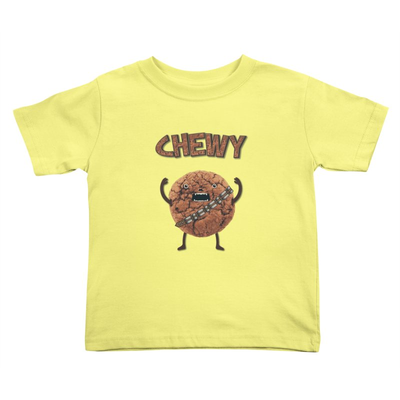 Chewy Chocolate Cookie Wookiee Kids Toddler T-Shirt by Badbugs's Artist Shop