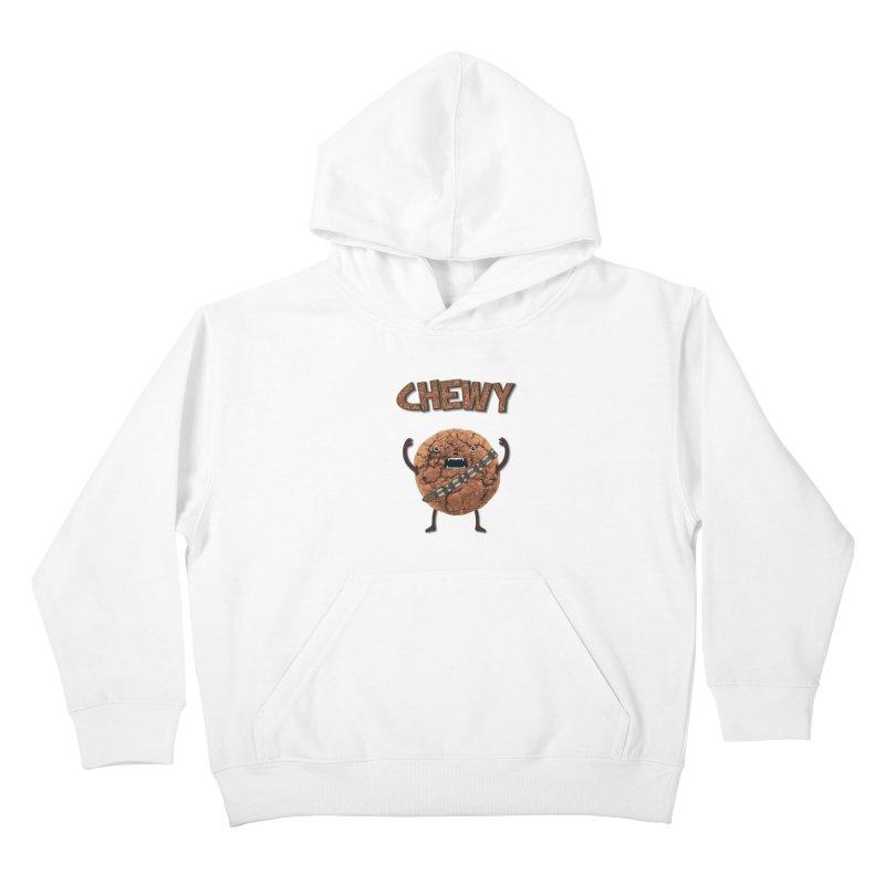Chewy Chocolate Cookie Wookiee Kids Pullover Hoody by Badbugs's Artist Shop