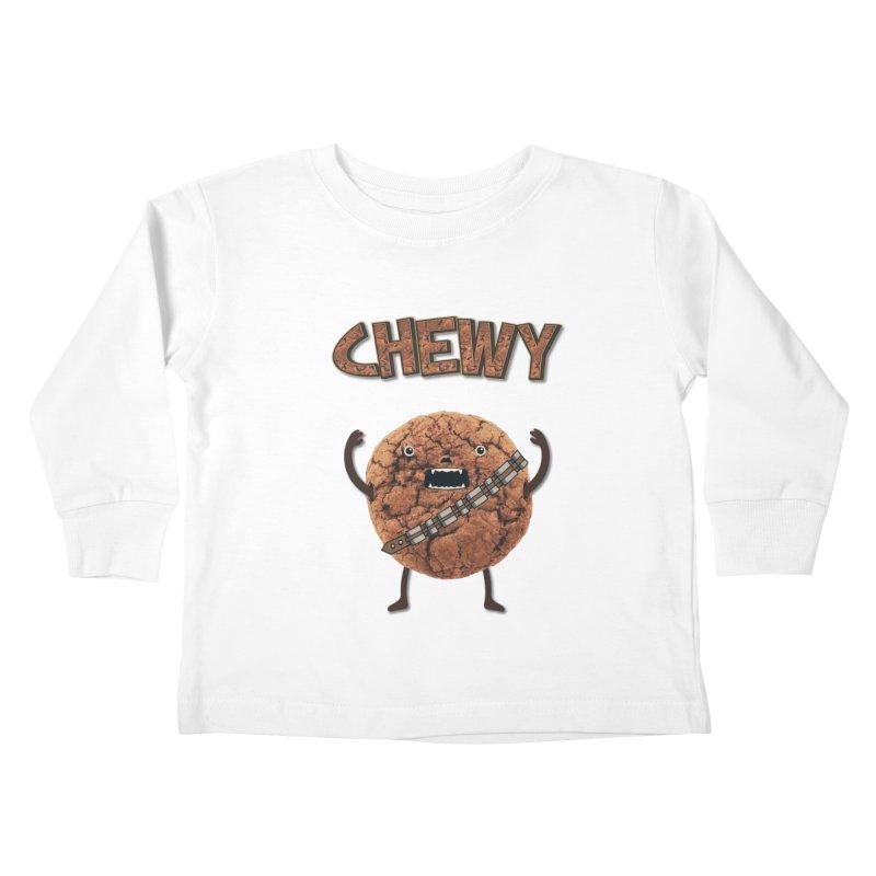 Chewy Chocolate Cookie Wookiee Kids Toddler Longsleeve T-Shirt by Badbugs's Artist Shop
