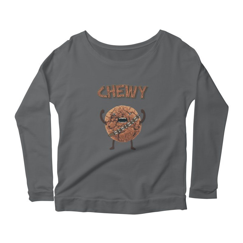 Chewy Chocolate Cookie Wookiee Women's Longsleeve Scoopneck  by Badbugs's Artist Shop