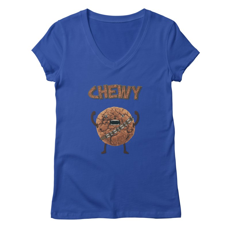 Chewy Chocolate Cookie Wookiee Women's V-Neck by Badbugs's Artist Shop