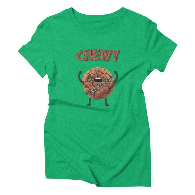 Chewy Chocolate Cookie Wookiee Women's Triblend T-Shirt by Badbugs's Artist Shop