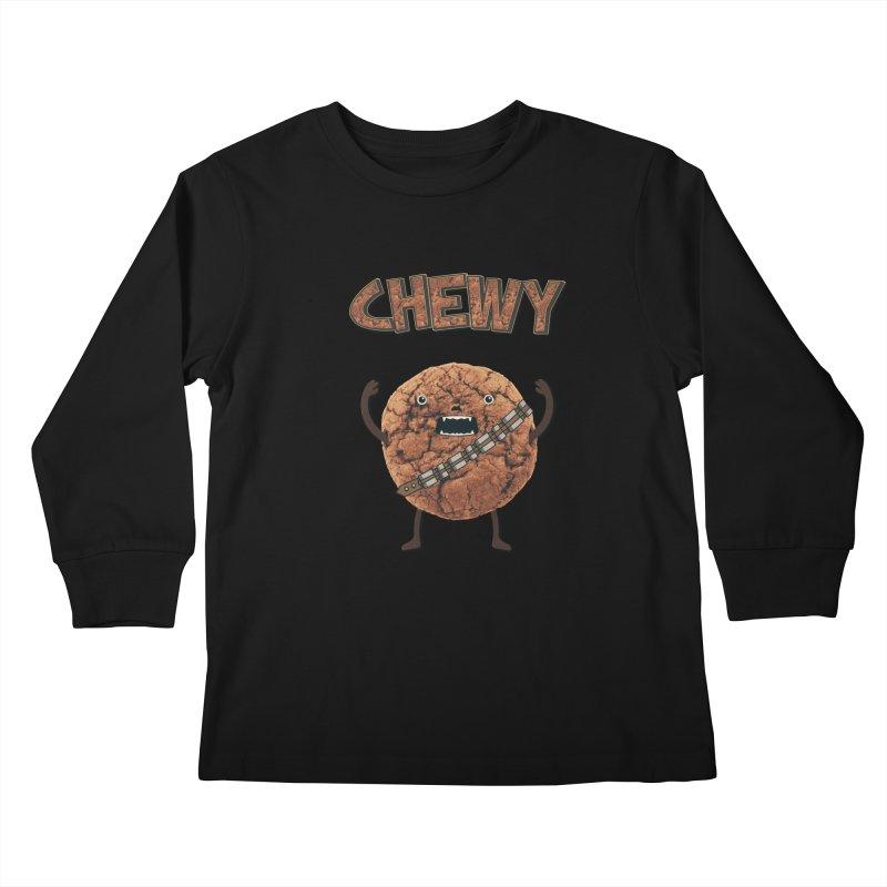 Chewy Chocolate Cookie Wookiee Kids Longsleeve T-Shirt by Badbugs's Artist Shop