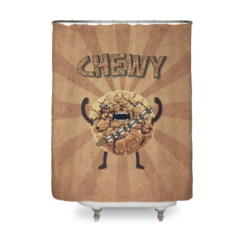 Chewy Chocolate Cookie Wookiee Home Shower Curtain by Badbugs's Artist Shop
