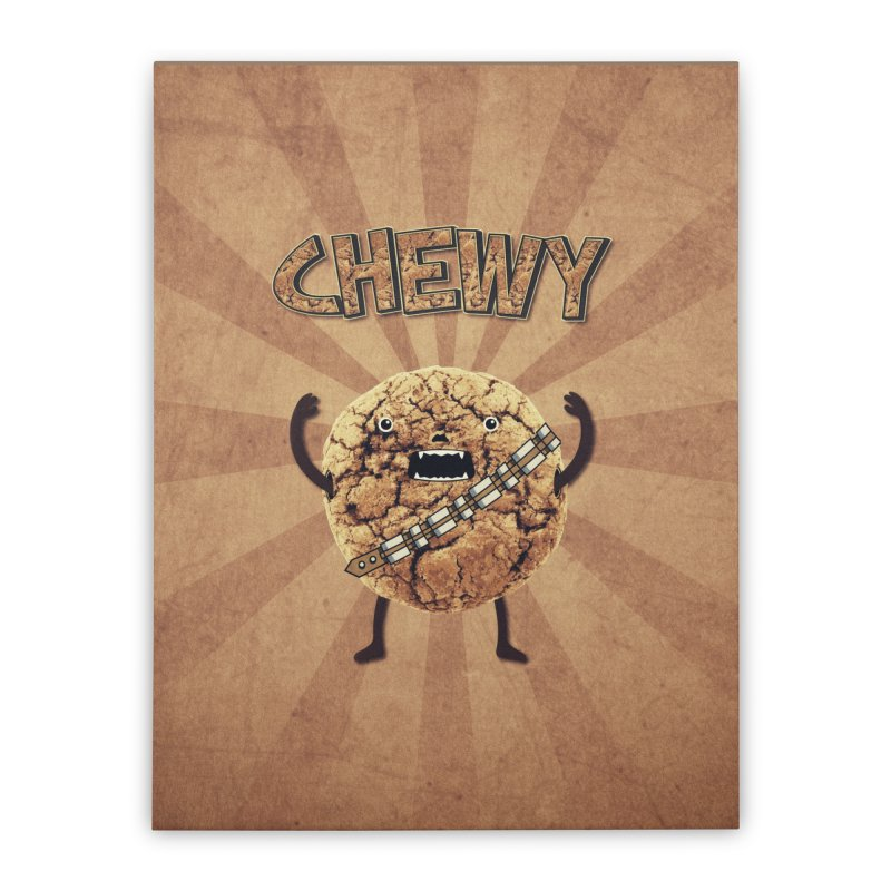 Chewy Chocolate Cookie Wookiee Home Stretched Canvas by Badbugs's Artist Shop