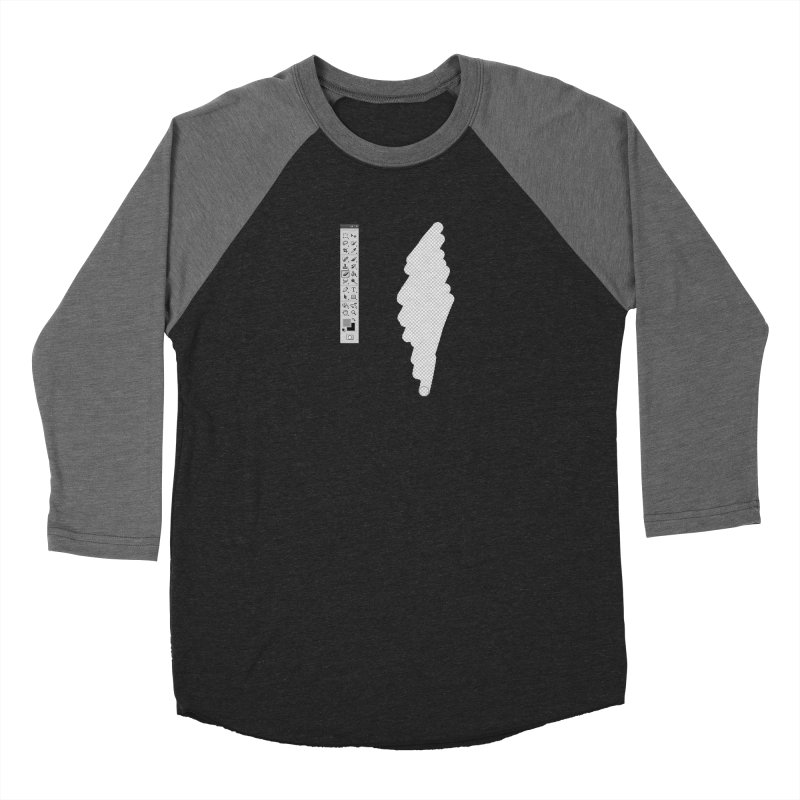 Graphic Designer (photoshop fake erase) Women's Baseball Triblend T-Shirt by Badbugs's Artist Shop