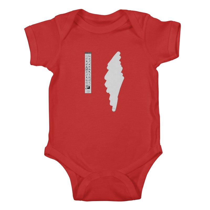 Graphic Designer (photoshop fake erase) Kids Baby Bodysuit by Badbugs's Artist Shop
