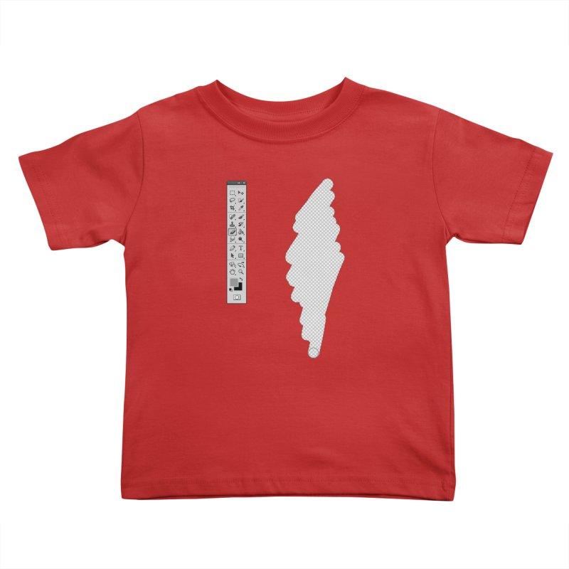 Graphic Designer (photoshop fake erase) Kids Toddler T-Shirt by Badbugs's Artist Shop