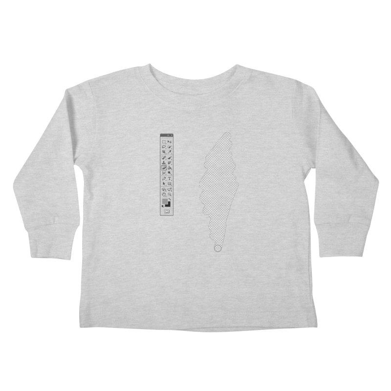 Graphic Designer (photoshop fake erase) Kids Toddler Longsleeve T-Shirt by Badbugs's Artist Shop