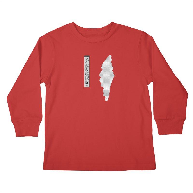 Graphic Designer (photoshop fake erase) Kids Longsleeve T-Shirt by Badbugs's Artist Shop