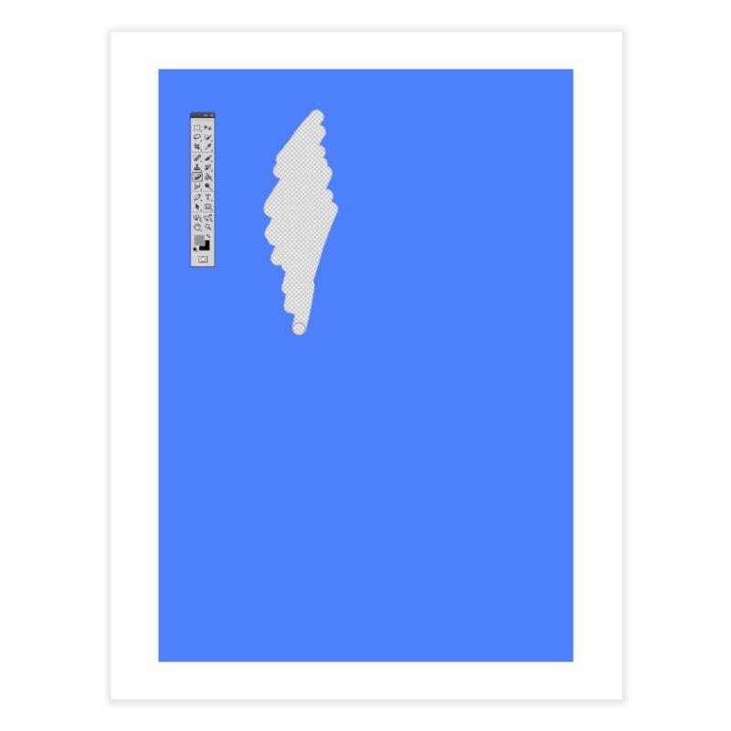 Graphic Designer (photoshop fake erase) Home Fine Art Print by Badbugs's Artist Shop