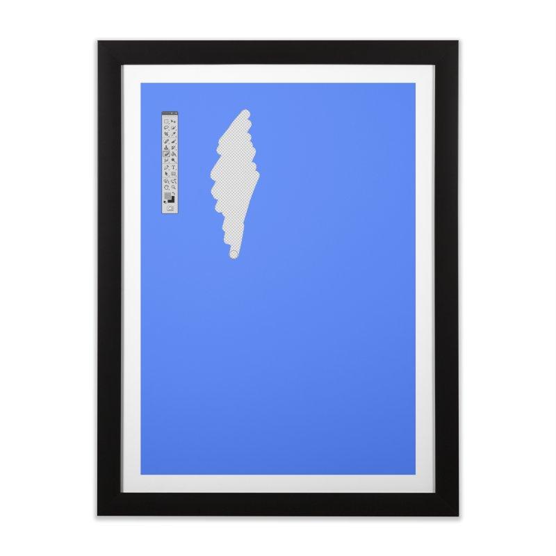 Graphic Designer (photoshop fake erase) Home Framed Fine Art Print by Badbugs's Artist Shop