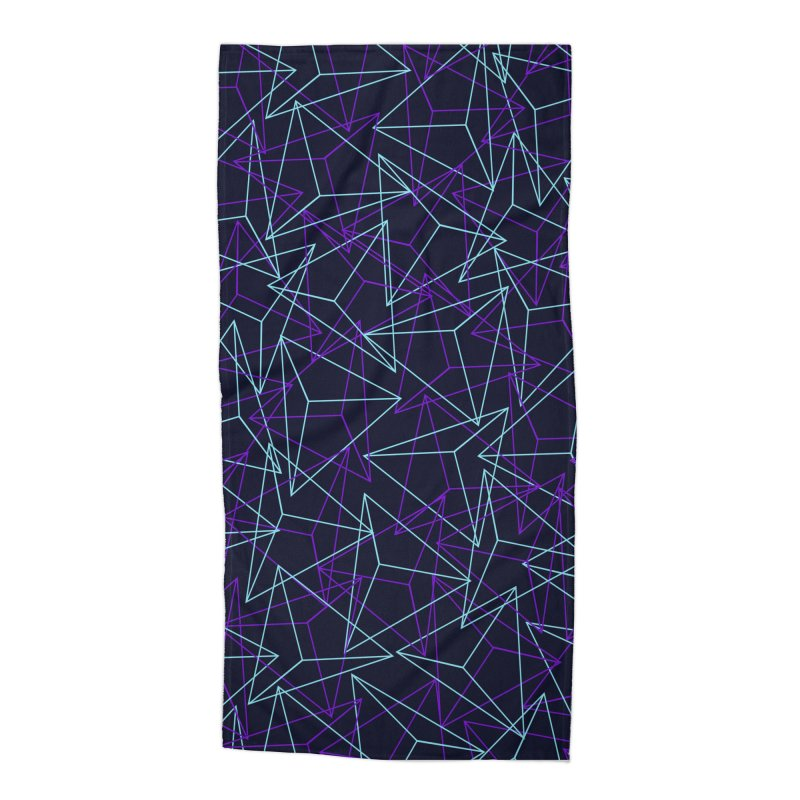Abstract Geometric 3D Triangle Pattern in turquoise/ purple Accessories Beach Towel by Badbugs's Artist Shop