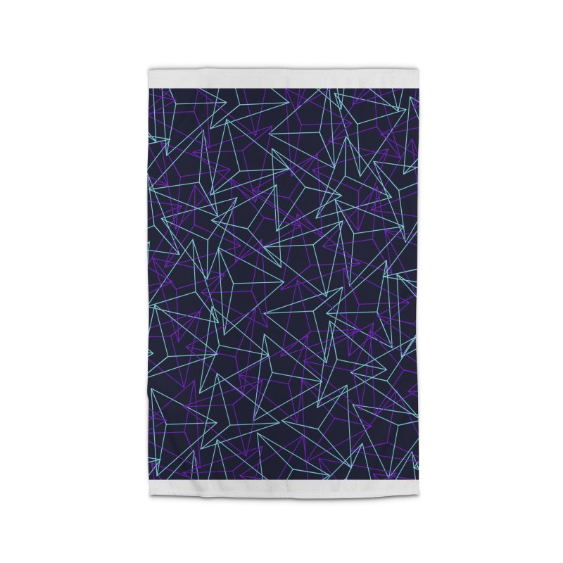 Abstract Geometric 3D Triangle Pattern in turquoise/ purple Home Rug by Badbugs's Artist Shop