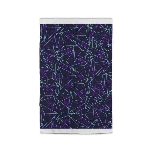 image for Abstract Geometric 3D Triangle Pattern in turquoise/ purple