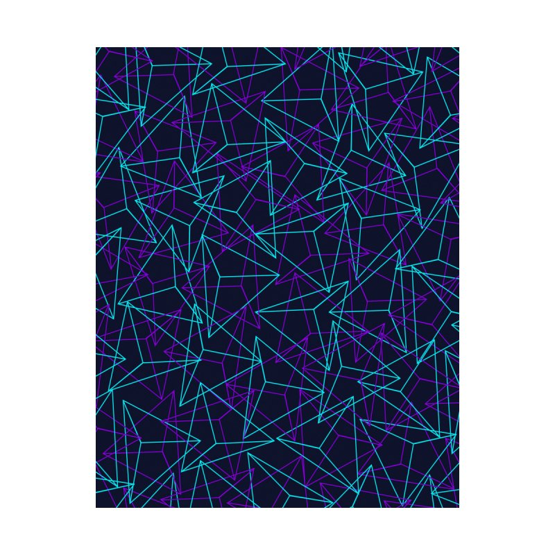 Abstract Geometric 3D Triangle Pattern in turquoise/ purple by Badbugs's Artist Shop
