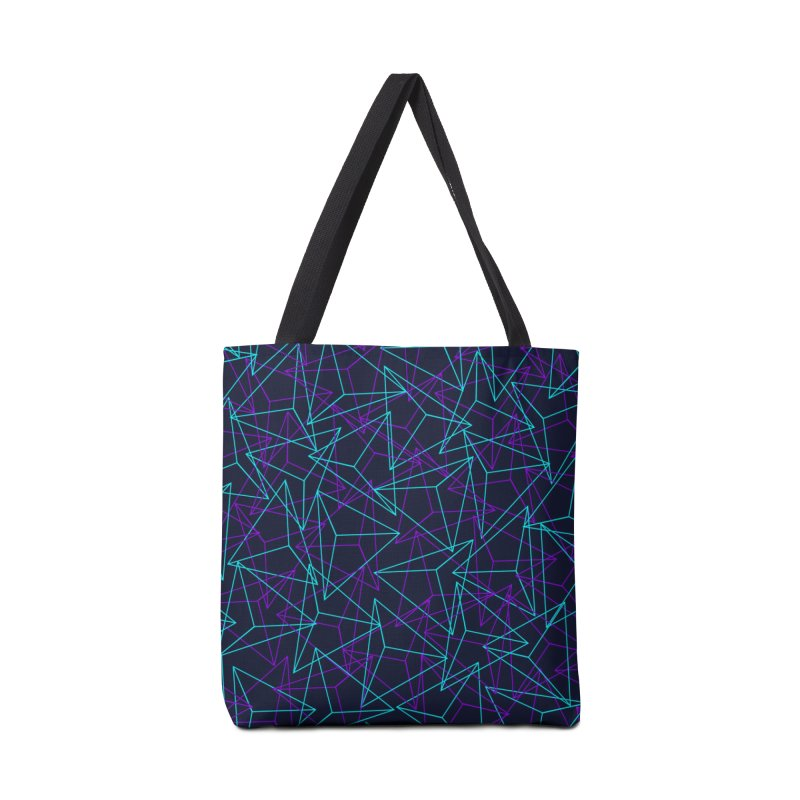 Abstract Geometric 3D Triangle Pattern in turquoise/ purple Accessories  by Badbugs's Artist Shop