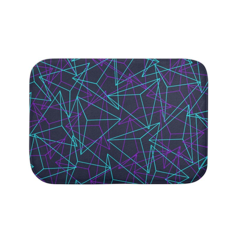 Abstract Geometric 3D Triangle Pattern in turquoise/ purple Home Bath Mat by Badbugs's Artist Shop