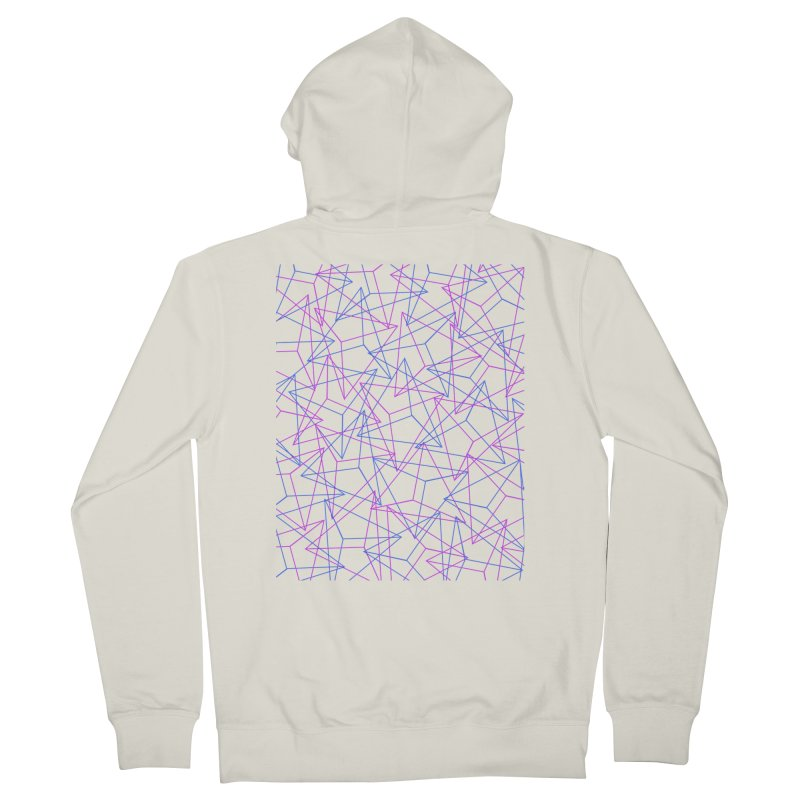 Abstract Geometric 3D Triangle Pattern in turquoise/ purple Women's Zip-Up Hoody by Badbugs's Artist Shop