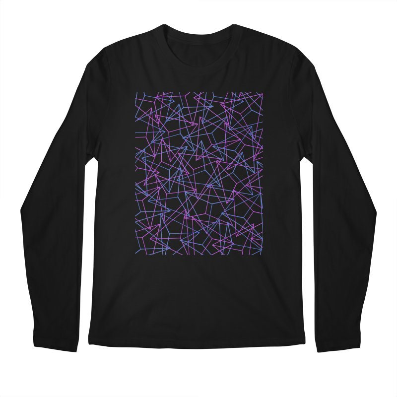Abstract Geometric 3D Triangle Pattern in turquoise/ purple Men's Longsleeve T-Shirt by Badbugs's Artist Shop