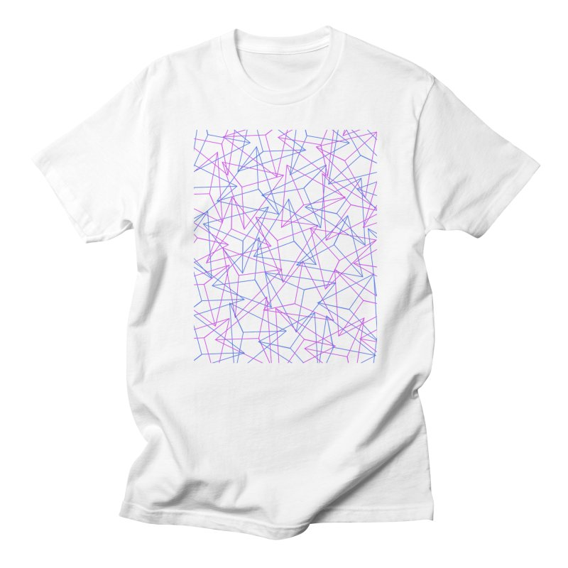 Abstract Geometric 3D Triangle Pattern in turquoise/ purple Women's Unisex T-Shirt by Badbugs's Artist Shop