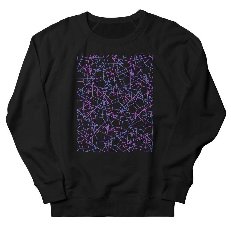 Abstract Geometric 3D Triangle Pattern in turquoise/ purple Women's Sweatshirt by Badbugs's Artist Shop