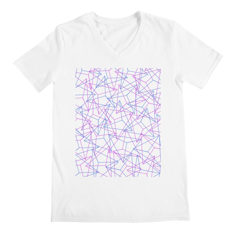 Abstract Geometric 3D Triangle Pattern in turquoise/ purple Men's  by Badbugs's Artist Shop