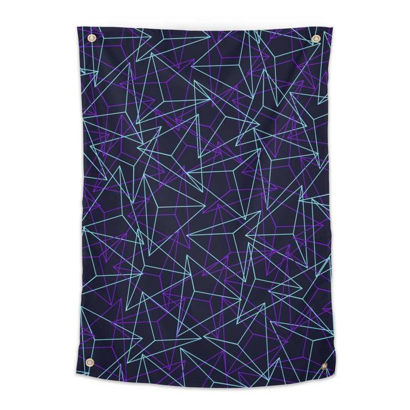 Abstract Geometric 3D Triangle Pattern in turquoise/ purple Home Tapestry by Badbugs's Artist Shop