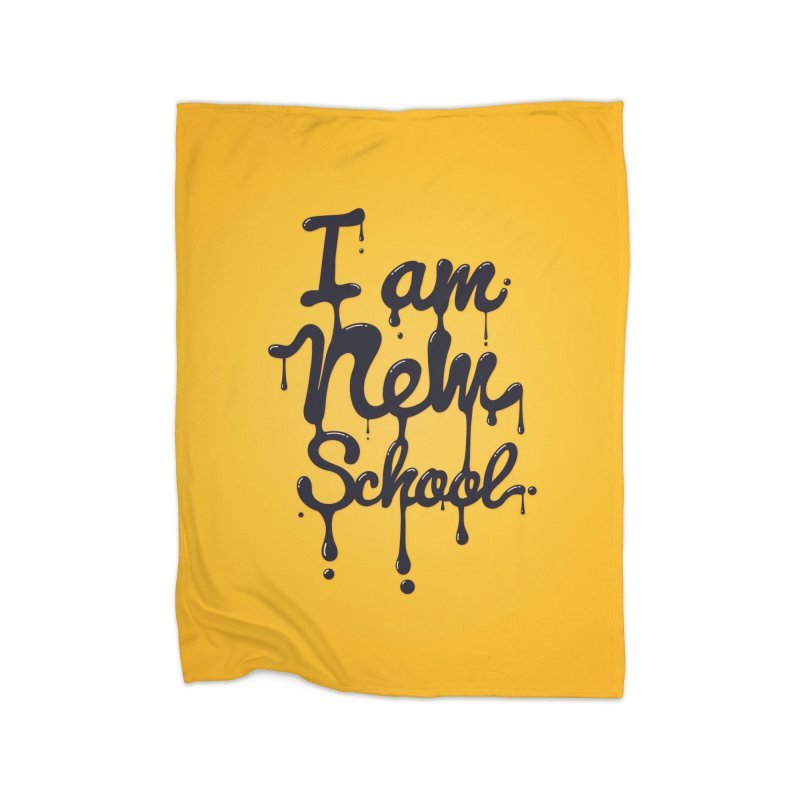 I am new school! Oil Typography Home Blanket by Badbugs's Artist Shop